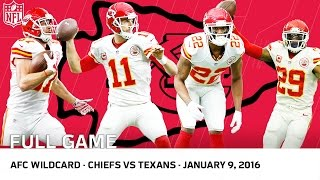 2015 AFC Wild Cąrd Playoffs: Chiefs vs. Texans | NFL Full Game