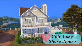 Cute and Cozy Shore House | Sims 4 Speed Build
