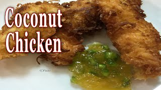 Coconut Chicken With Pineapple Jalapeno Dipping Sauce