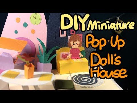 DIY Miniature POP-UP Doll's House