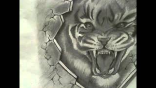 рисунки тигра 3д Hovo tattoo