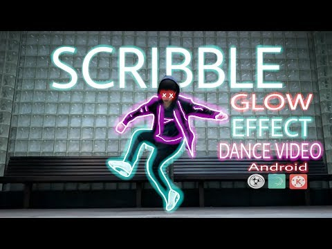 HOW TO EDIT SCRIBBLE GLOWING EFFECT VIDEO On ANDROID  || EASY STEPS !