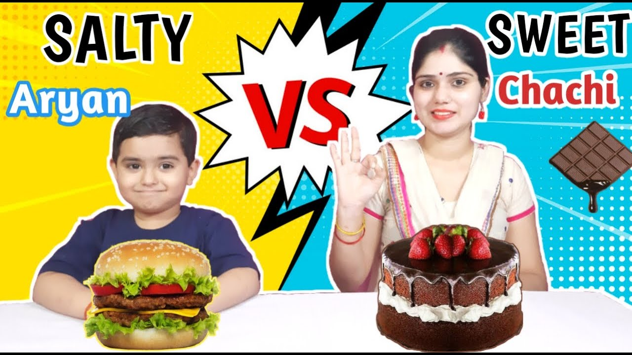 SWEET vs SALTY FOOD CHALLENGE   Funny Food Challenge