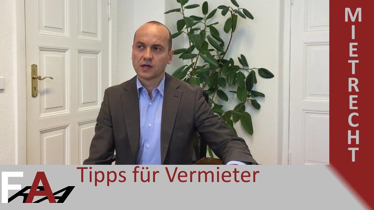 Tipps Für Vermieter Bei Kündigung Des Mieters Mietrecht Youtube