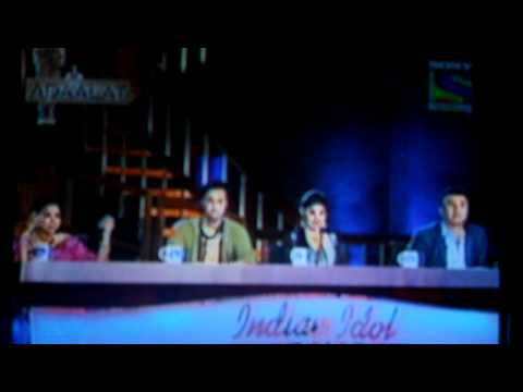 Priyanka Mitra In INDIAN IDOL Singing In Front Of Asha Bhosle....