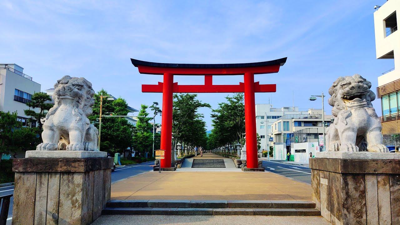 Walking in Kamakura, Japan 鎌倉 - June 2020 - 4K 60 FPS Binaural Audio - Slow TV