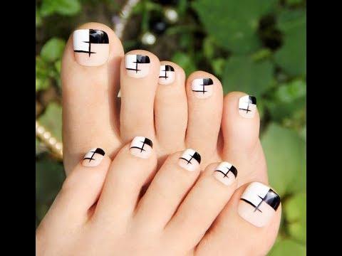 Những kiểu nail vẽ móng chân đơn giản mà đẹp