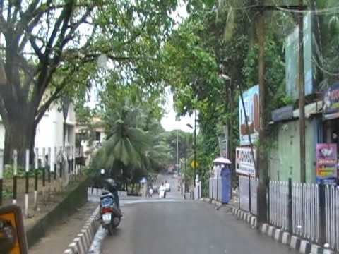 Drive through Mahe, Kerala, India