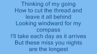 Cliff Richard: Miss You Nights- with lyrics -