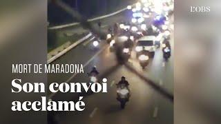 Diego Maradona décédé, les Argentins acclament son convoi funéraire supposé à Buenos Aires
