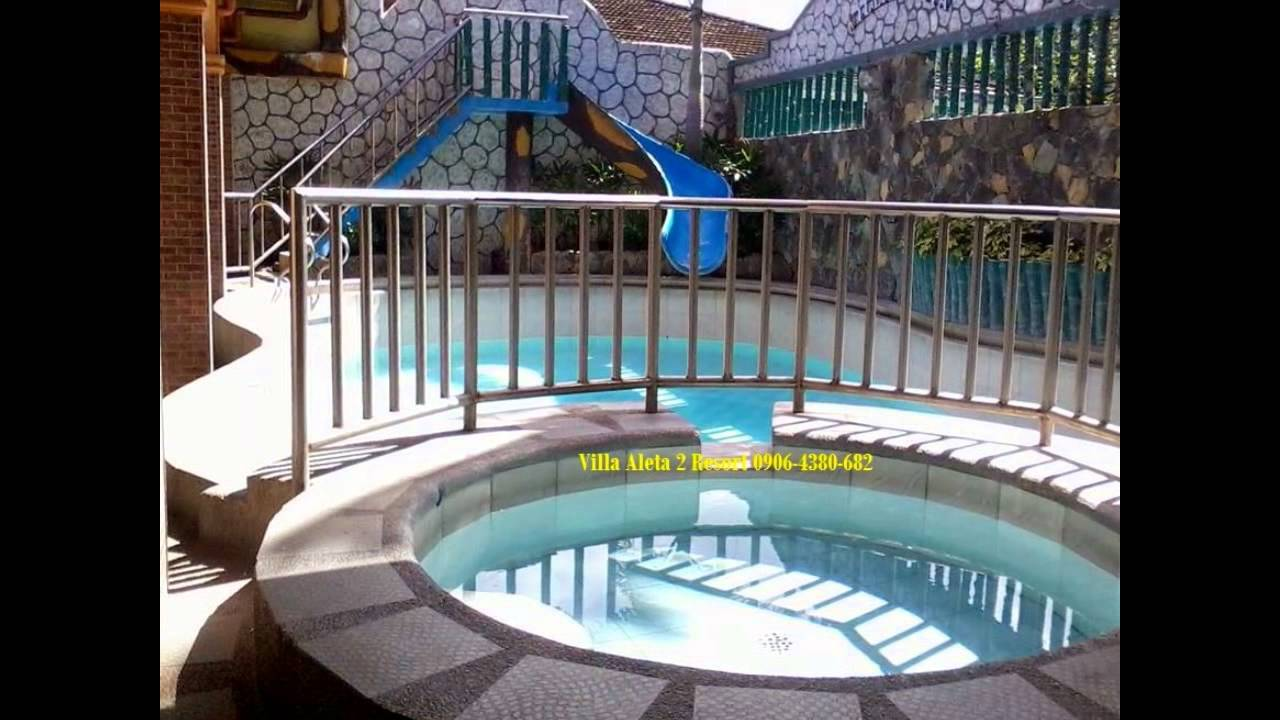 Villa aleta 2 private hotspring resort in pansol calamba laguna youtube
