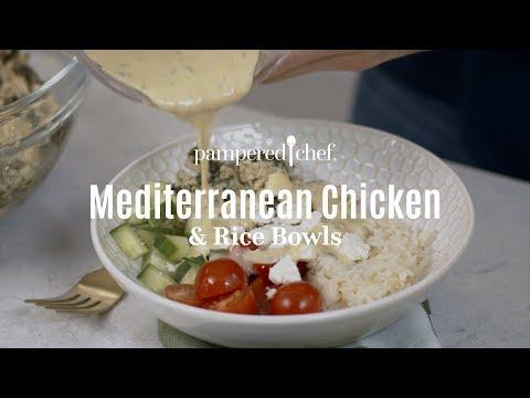 quick-cooker-mediterranean-chicken-&-rice-bowls- -pampered-chef