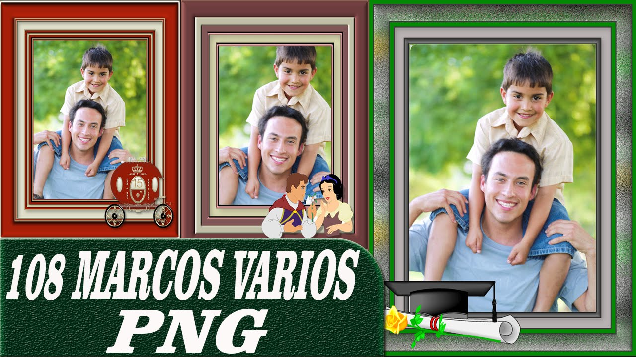 Pack de 108 marcos PNG Bordes Clasicos Cuadrados - Fondos ...