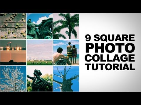 How to create a 9 Square Photo Collage in Photoshop Tutorial