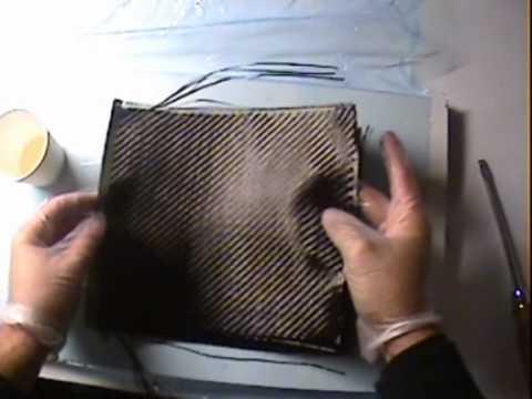 Fabrication d'une plaque en carbone pour faire des dessous de verre
