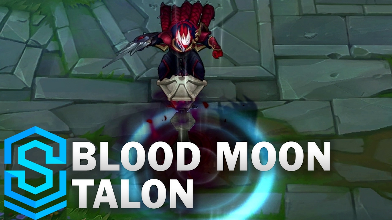 blood moon talon skin spotlight league of legends youtube