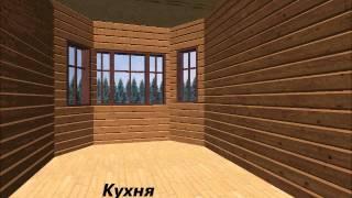 """Дом из бруса 2-этажный, проект """"Рюрик"""""""