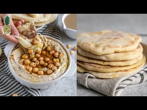 How To Make the BEST Hummus + Pita At Home