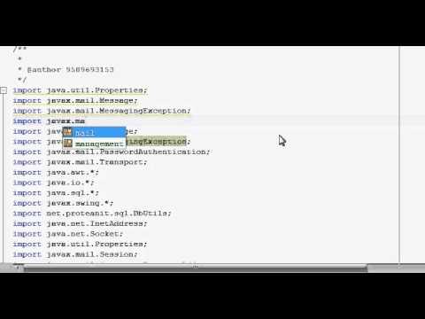 Java prog#87 JavaMail : transfer email using gmail SMTP :Download JavaMail  API:Part1