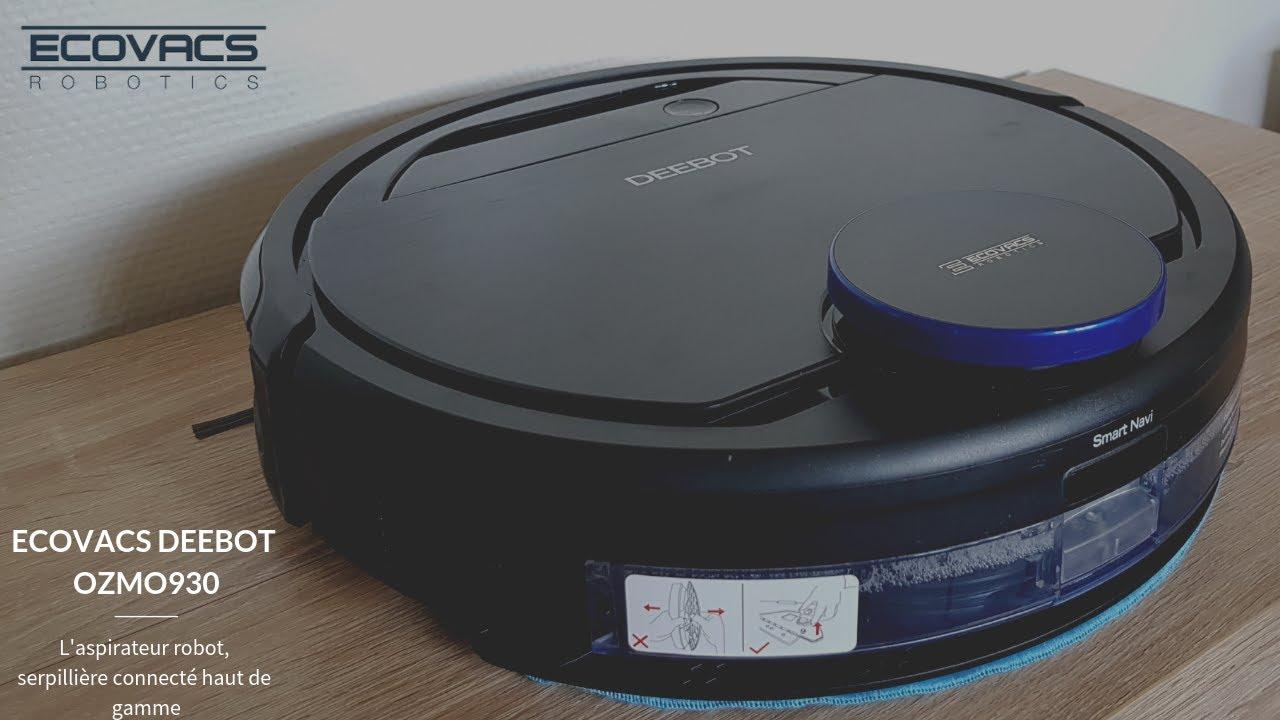 deebot ozmo 930 robot aspirateur serpilli re connect haut de gammed youtube. Black Bedroom Furniture Sets. Home Design Ideas