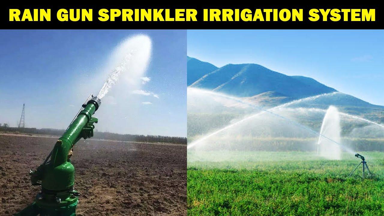 RAIN GUN SPRINKLER IRRIGATION SYSTEM | Agriculture Irrigation Technology