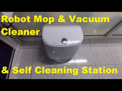 ANNESA Self-cleaning Mops 3-in-1 Robot with Auto Sweeping Vacuuming /& Mopping