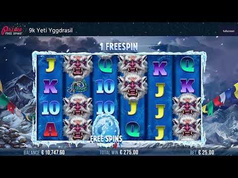 9k Yeti Yggdrasil Online Casino Slot Review
