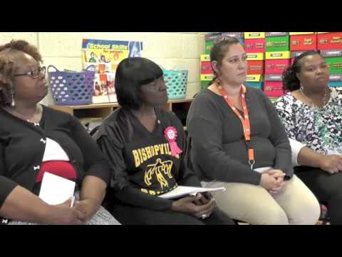 **Lee County School District Teachers From Bishopville Primary School Talk With Governor Henry McMas