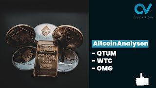 Altcoin Analysen zu QTUM, WTC, OMG!