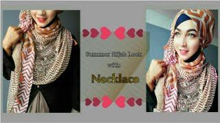 Easy Hijab Style with Necklace | Pari ZaaD