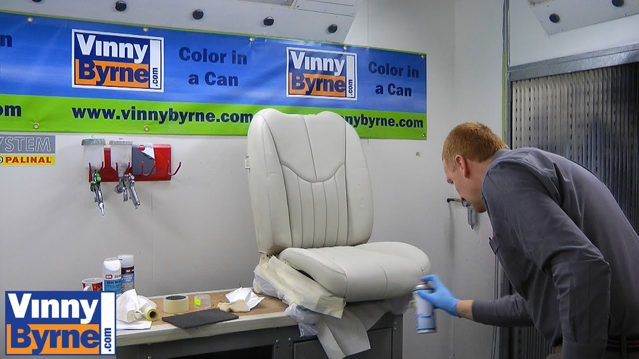 How to Spray a Leather Car Seat - YouTube