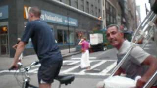 Crazy Rickshaw Race Thru New York City