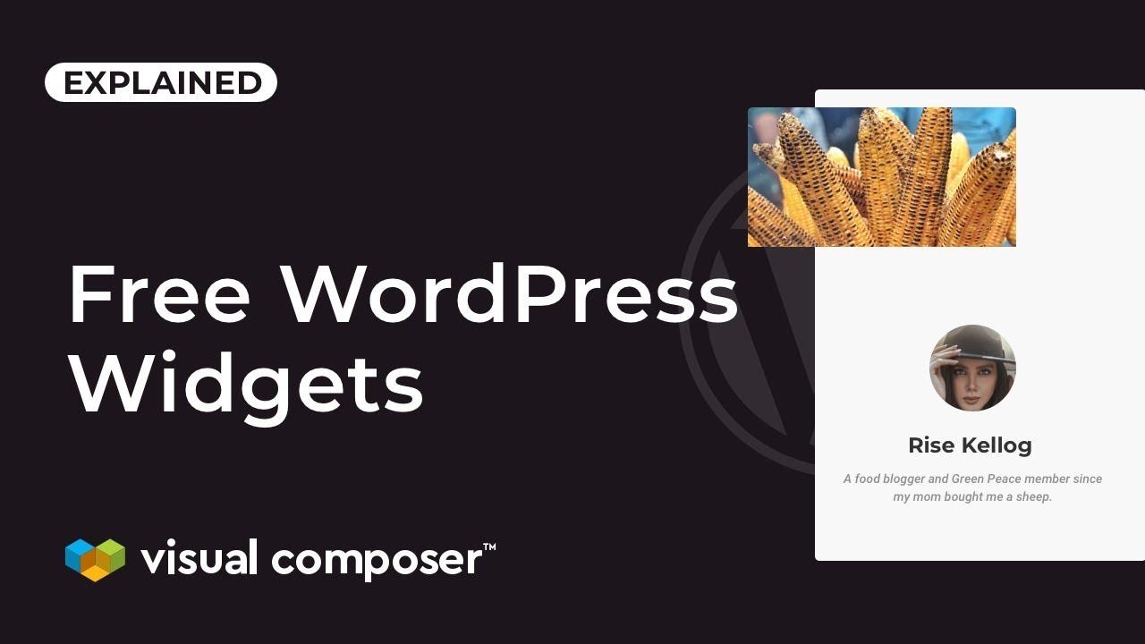 Free WordPress Widgets Visual Composer Website Builder