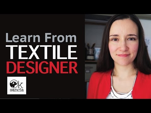 Learn From a Textile Designer. Welcome to Oksancia Channel! :)