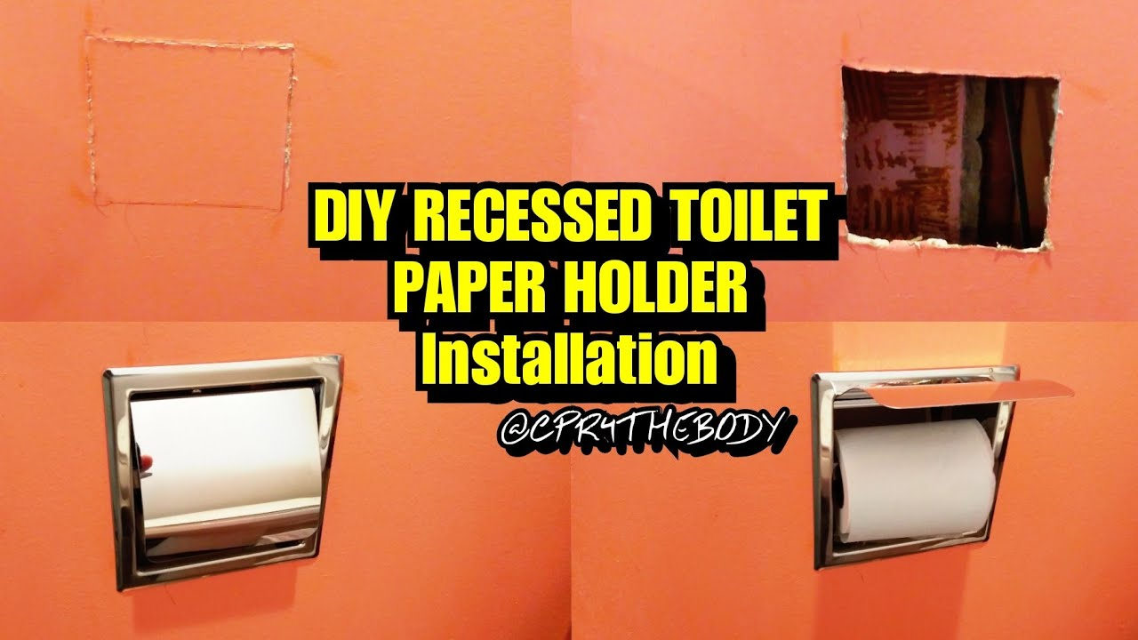 How To Install A Recessed Toilet Paper Holder Youtube
