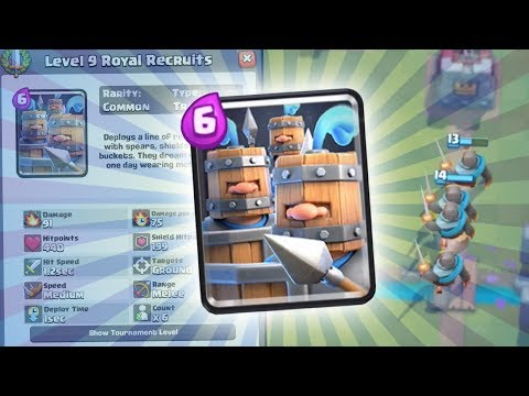 NEW CARD ROYAL RECRUITS ARE HERE!   Clash Royale   NEW GOLEM DECK HIGH LEVEL GAMEPLAY!