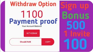 Payment proof | Earn Upto 500 daily | 500 Sign up bonus 1 reffer 100