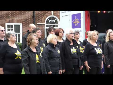 Rock Choir - Christa's Crew sing Fall At Your Feet at Age Concern Summer Fete (26/06/16)