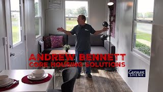 Andrew Bennett On How His Tiny House Company Began: Core Housing Solutions Simplifymy.life Excerpt