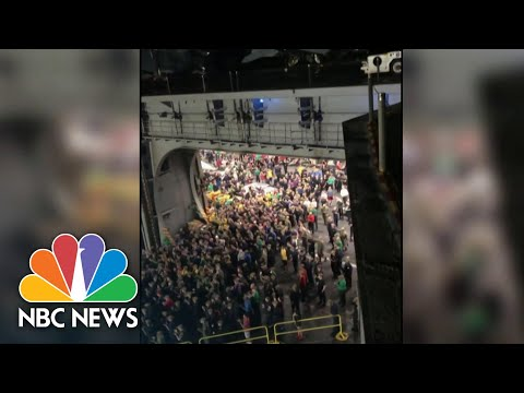 Sailors Cheer Navy Captain Relieved Of Command After Raising Alarm On Coronavirus | NBC Nightly News