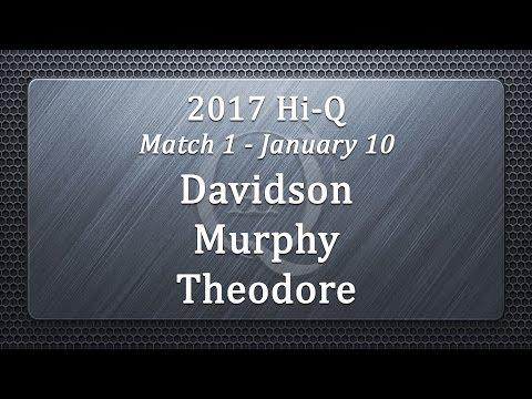 2017 Hi-Q Match 1