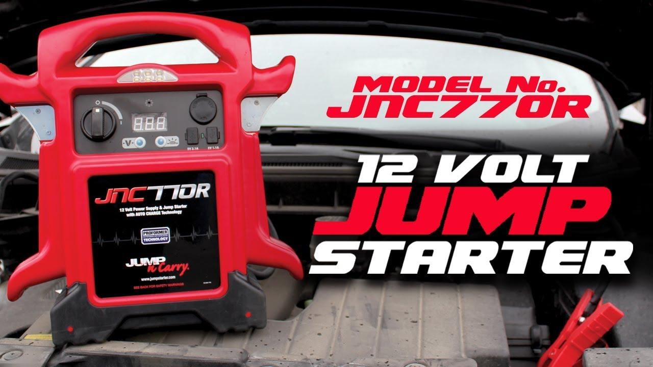 Jump-N-Carry JNC770R 1700 Peak Amp Premium 12-Volt Jump Starter Red