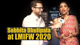Lotus Make-up India Fashion Week 2020: Sobhita Dhulipala with designer Bhumika Sharma