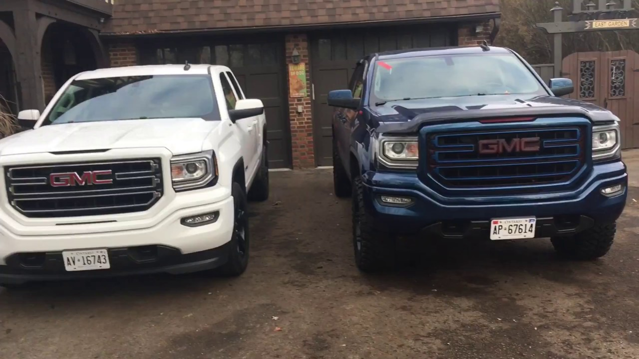 gmc sierra leveling kit and 33s before and after  compare    YouTube gmc sierra leveling kit and 33s before and after  compare