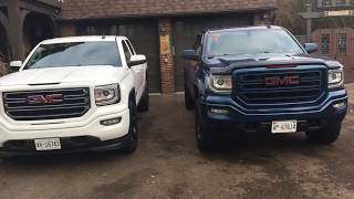Gmc Sierra Leveling Kit And 33s Before And After (compare)