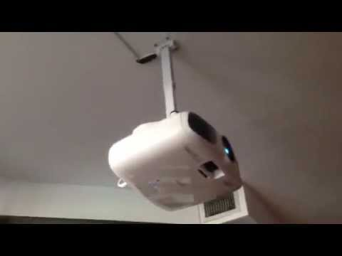 Ceiling Projector Installation with wire concealment on