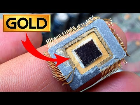 Gold From Ic Chip Computer PC Scrap Old Electronics Equipment For Recycle | You May Find Mine Gold.