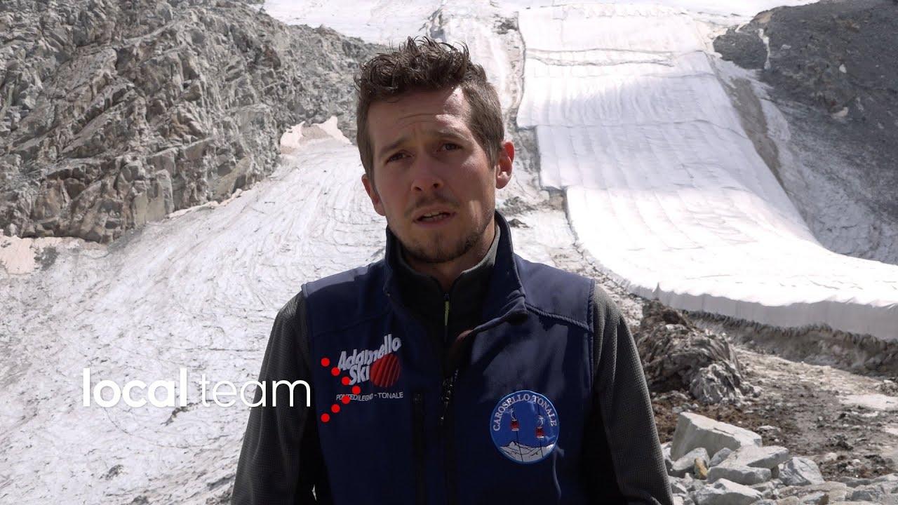 Scioglimento ghiacciaio presena, la lotta con i teloni: il racconto