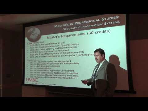 UMBC Geographic Information Systems Session with Dr. Erwin Villiger