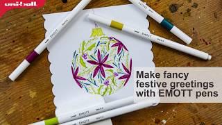 Make Christmas cards with EMOTT pens